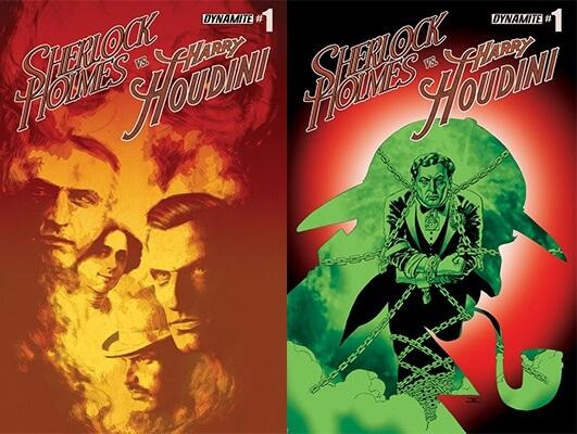 Dynamite lança quadrinhos de Sherlock vs Harry Houdini