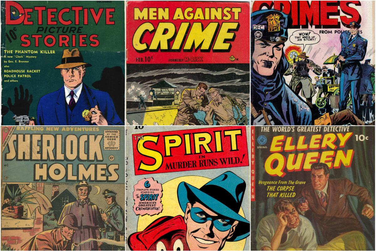 20 capas clássicas de detetives nos quadrinhos