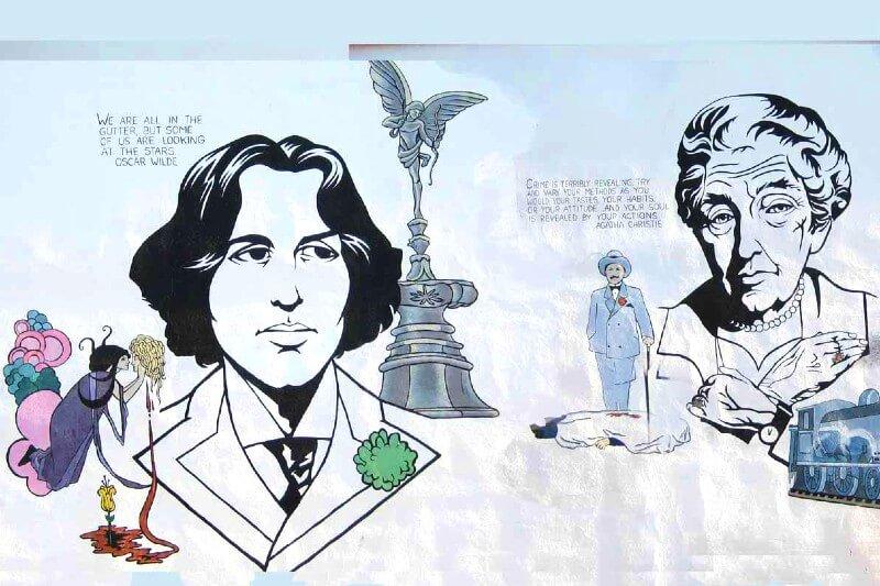 31 exemplos de arte de rua e murais com livros