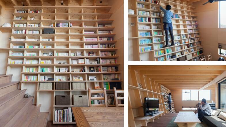 Conheça a casa que foi projetada ao redor de uma estante de livros