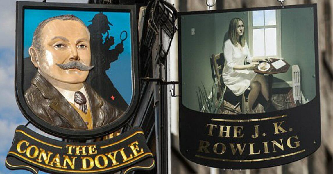 Bar muda o nome de Sherlock para o The J.K. Rowling Pub