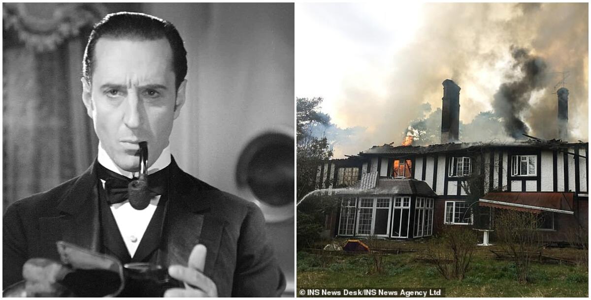 Incendiaram a casa de Sherlock Holmes! Casa de ator clássico pega fogo