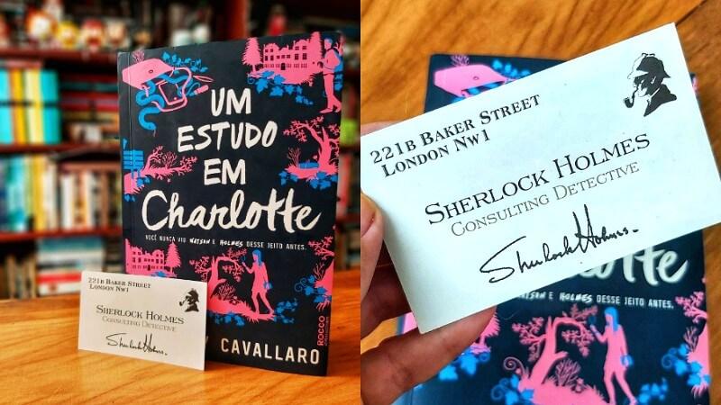 SORTEIO | Concorra a 1 exemplar de Um Estudo em Charlotte + 1 cartão de Sherlock Holmes