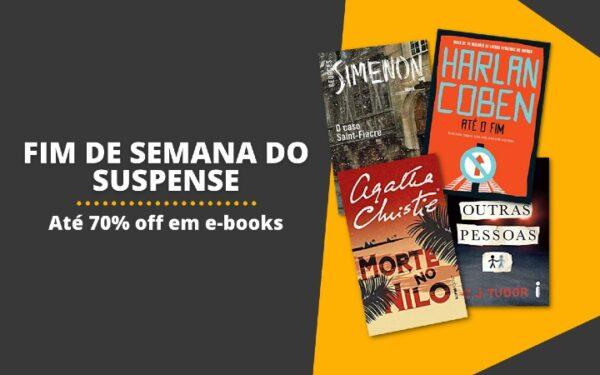 ATÉ 70% OFF | Fim de semana dos e-books de suspense